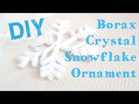 Borax Crystal Snowflake Ornament ♥ 12 DIYs of Christmas