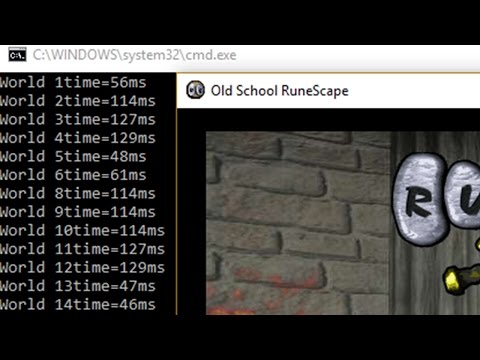 [PC] Simple Trick To Check Your Ping on Old School RuneScape ( EVERY WORLD )