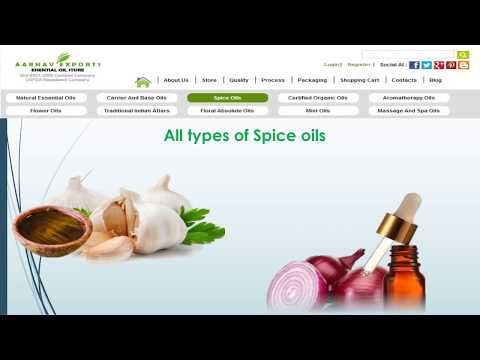 Find All Types of Organic essential oils @ Aroma Essential oil store