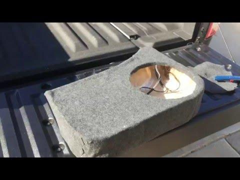 How to Build Custom Sub (subwoofer) Box under seat