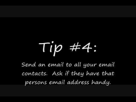 Find A Persons Email Address