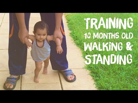 Training 10 months old- walking & standing