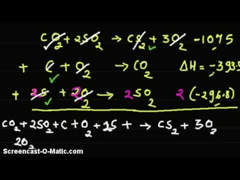 Video - Given enthalpy of formation of products of a reaction, find enthalpy of formation,