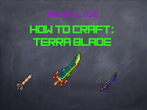 Terraria IOS: HOW TO CRAFT THE TERRA BLADE!