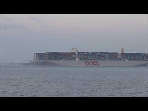 OOCL Hong Kong makes maiden call at Felixstowe