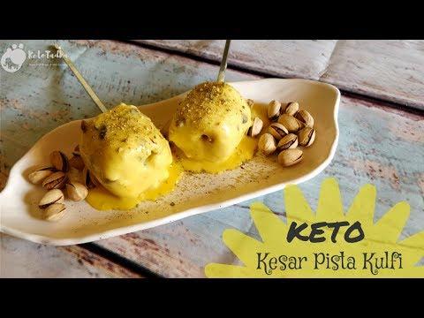 Keto Kesar Pista Kulfi | Keto dessert recipes Indian | Simple keto dessert recipes