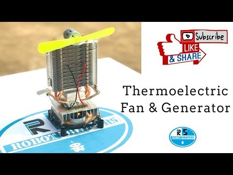 How to Make a Thermoelectric fan|DIY Thermoelectric generator| peltier module cooler testing