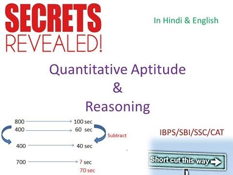 Quantitative aptitude& Logical Reasoning Shortcuts series for SSC IBPS SBI PO Clerk GATE CAT