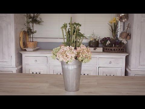 Living Hydrangea Floristry Arrangement Using Cuttings