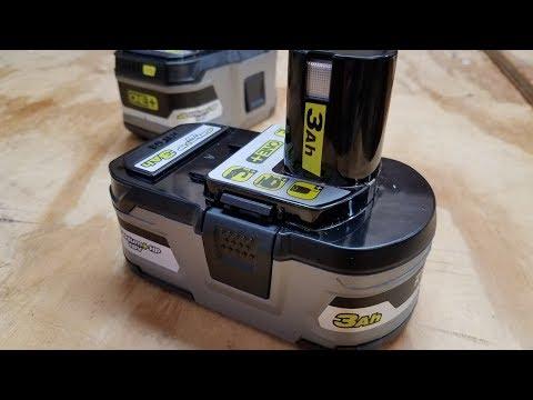Ryobi One+ 3Ah vs 6Ah HP Battery Review