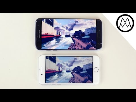 Apple iPhone 7 vs Galaxy S7 Edge - Gaming Review!
