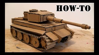 How to make a Battle Tank with Cardboard on the hydraulic drive\Amazing Toy DIY