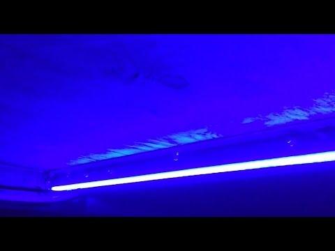 RV LED Blue Strip Light Install / DIY