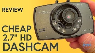 Cheap Dashcam - 2017 Review (with footage)