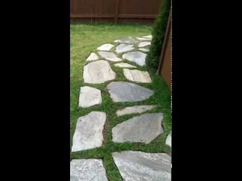 DIY Flagstone walkway project