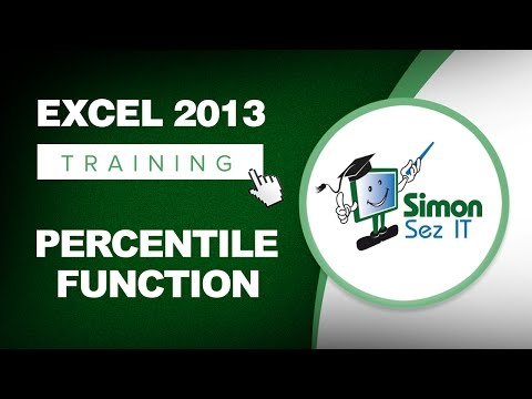 Excel 2013 Tutorial - Using the Percentile Function