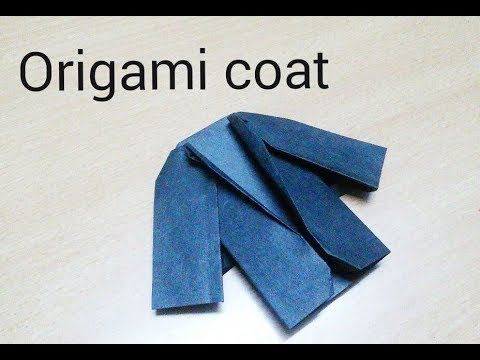 Origami Coat-How to make origami paper coat |Jacket|Valentine gift ideas