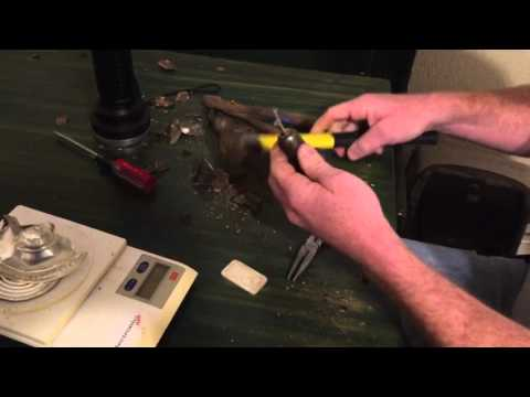Tearing apart a STERLING SILVER WEIGHTED candle holder!!!!!