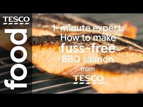 1-minute expert: How to BBQ salmon | Tesco Food
