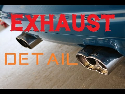 Car Exhaust cleaning - How to clean and polish exhaust tips pipes