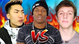 Top 5 Craziest YOUTUBER DISS TRACKS! (KSI, Ricegum, W2S & More)