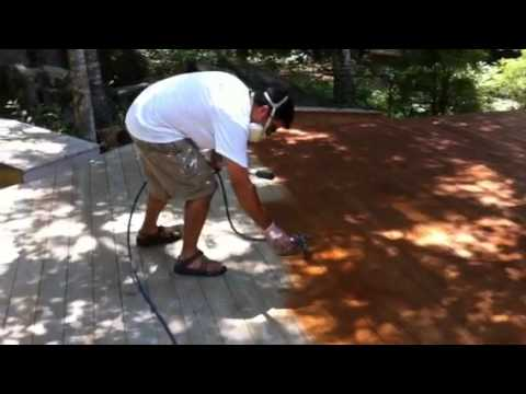 Staining a Deck with an Airless Sprayer