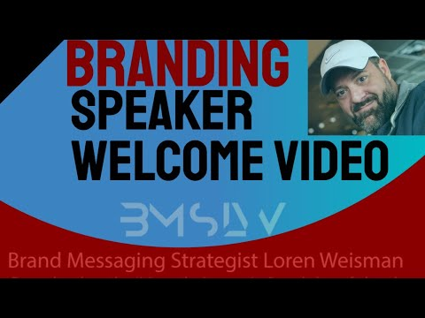 Branding Speaker and Author YouTube Welcome Video from LW