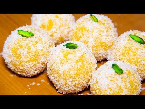 Mango Coconut Ladoo Recipe | How to make Mango Ladoo | Indian Sweets Recipes | Kanak's Kitchen