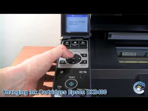 How to Change Ink Cartridges with a Epson Stylus DX8400