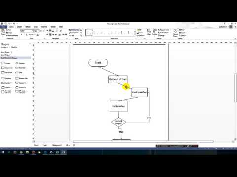 Microsoft Visio tricks - adding connection points, diagonal arrows