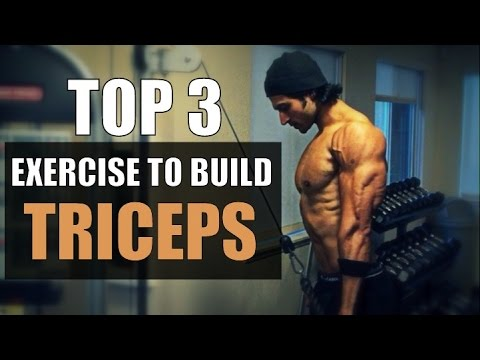 Top 3 Exercises to Build TRICEPS MUSCLE | by Guru Mann