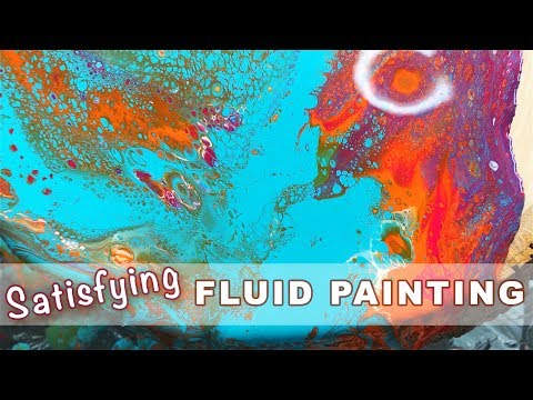Fluid Dirty Pouring Painting - Watch Me Paint