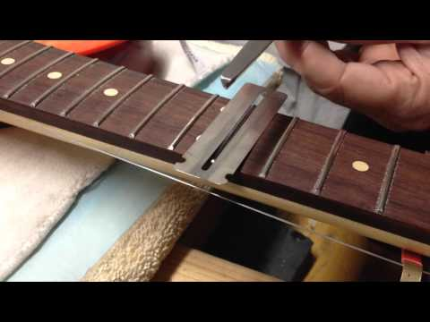 How To Crown Guitar Frets With A Cheap 3-Corner File