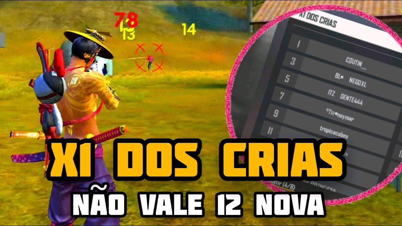 🔴 FREE FIRE AO VIVO - X1 DOS CRIAS - NÃO VALE 12 NOVA