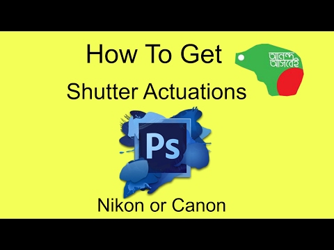 How To Get Shutter Count (Actuations) Nikon or Canon | Photoshop📷
