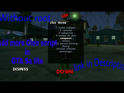How to use Cleo script in gta sa lite in just 10 kb