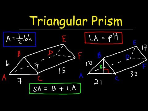 Surface Area of a Triangular Prism - Lateral Area, Geometry