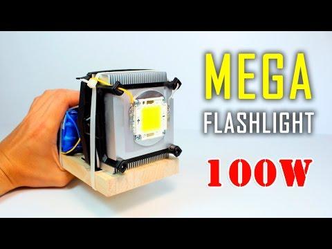 How to make a SUPER Led FLASHLIGHT | 100W FLASHLIGHT