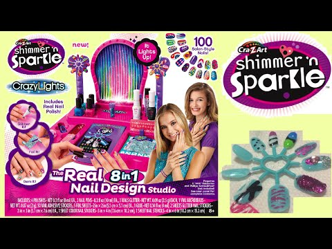 Cra-Z-Art Shimmer and Sparkle Crazy Lights Super Nail Salon Kit - Unboxing !!!