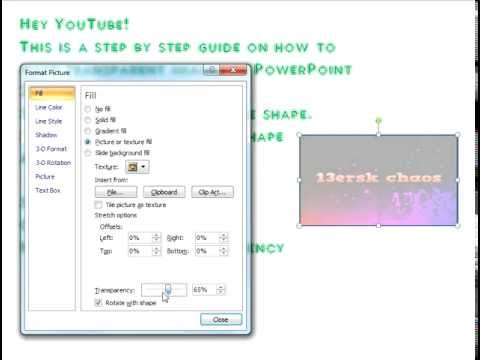 Microsoft PowerPoint step by step transparent images tutorial 2013