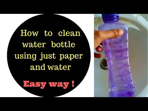 How to clean a water bottle using just paper and water [easy way]