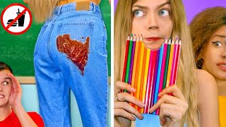 7 Ways To SNEAK FOOD Into Class || Edible DIY School Supplies And Food Pranks by Mr Degree