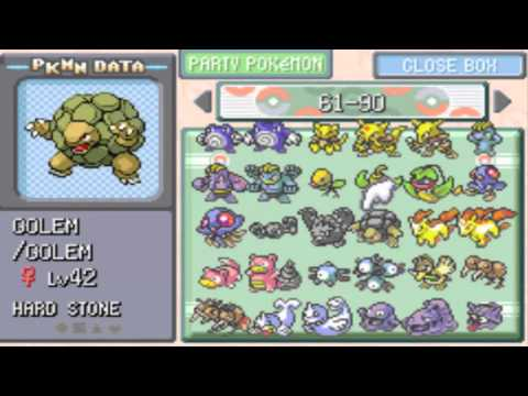 Completing my Pokemon Leaf Green Pokedex & Catching them all!