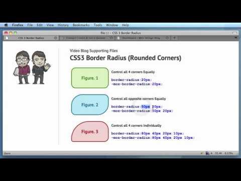 CSS3 Border Radius Property (Rounded Corners)