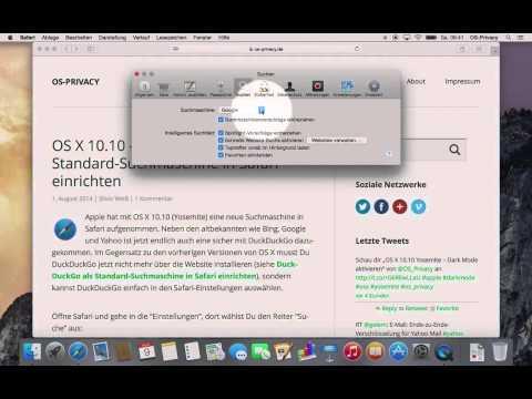 OS X 10 10 – DuckDuckGo als Standard Suchmaschine in Safari einrichten