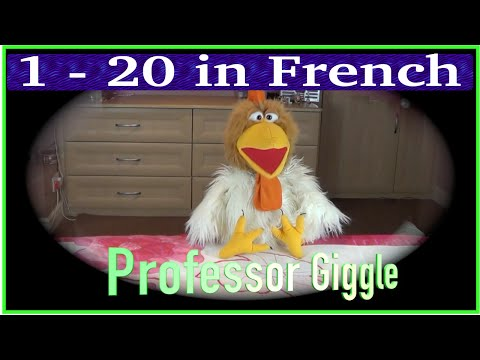 1 - 20 in French | Big numbers in French | Count in French with Jingle Jeff