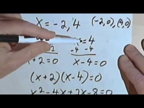 Finding a Quadratic Equation Given the Roots 070-27a