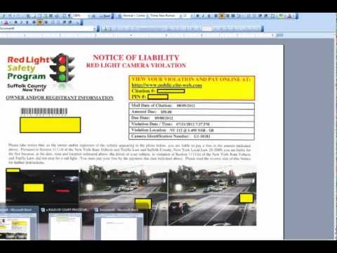 Beating Traffic Light Camera Tickets - Why It Works