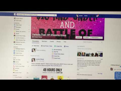 how to create an event and a VIP group on FB