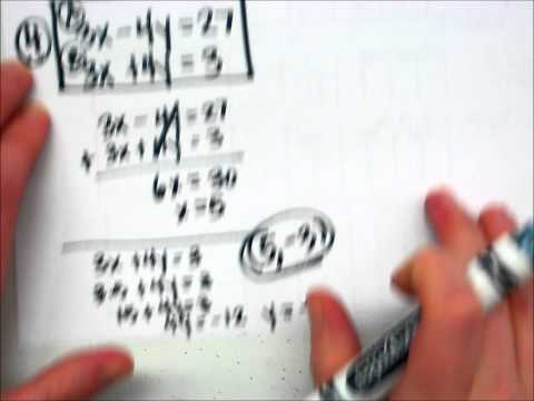 Solving Systems of Equations Using Elimination.wmv